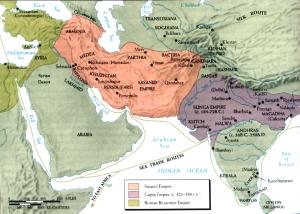 International trade routes in Gupta and Sasanid times.HWC 284